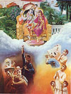 Four kinds of poius men surrender to Krsna, and four kinds of impious men do not.