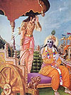 When Arjuna saw all different grades of friends and relatives, he became overwhelmed with compassion.